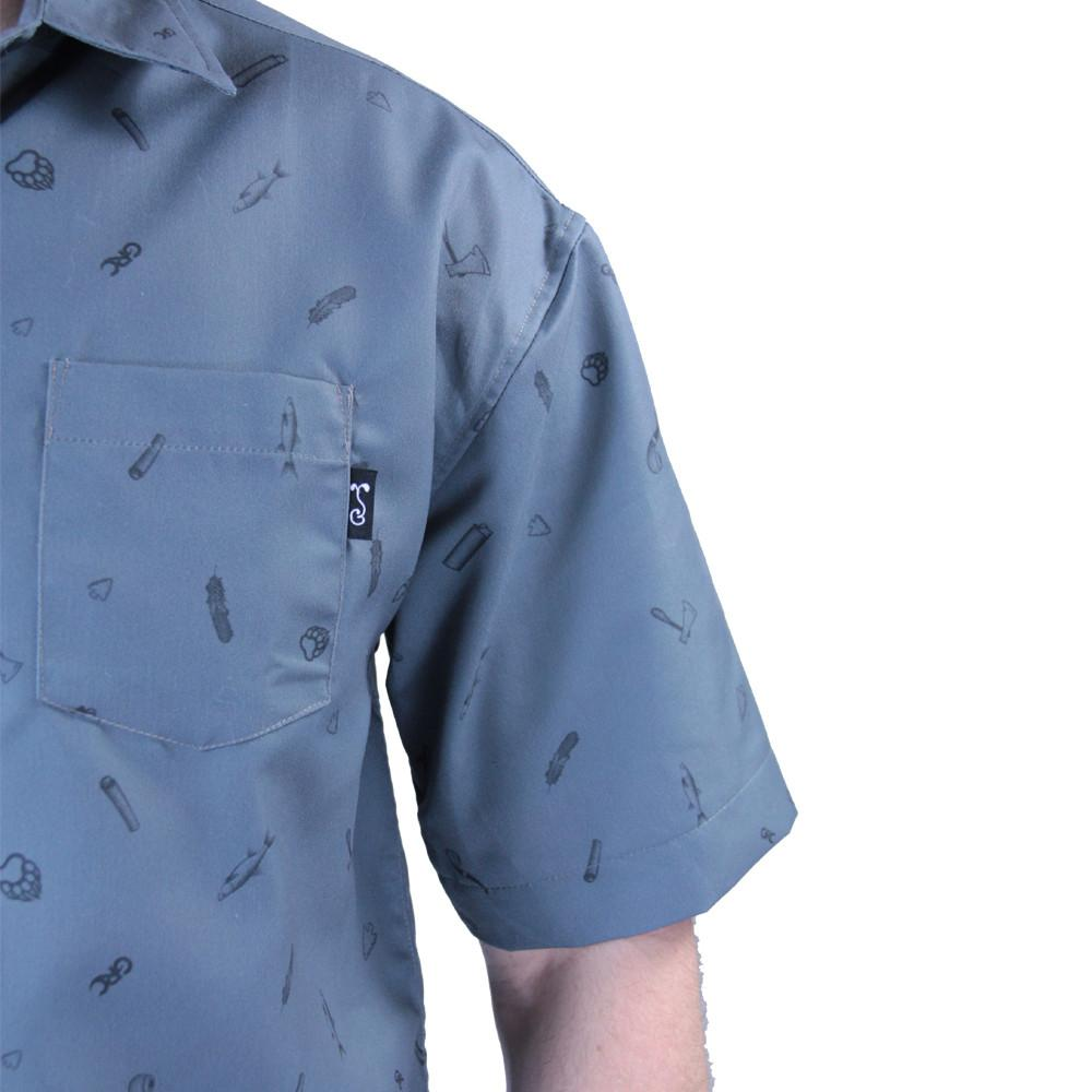 Bear Scout Charcoal Button Up Short Sleeve - Grassroots California - 6