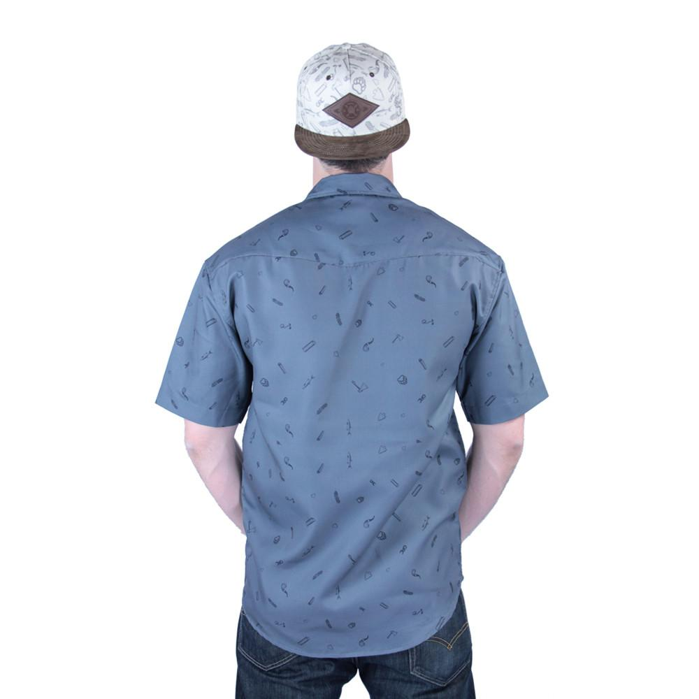 Bear Scout Charcoal Button Up Short Sleeve - Grassroots California - 5