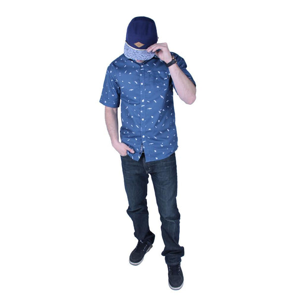 Bear Scout Navy Button Up Short Sleeve - Grassroots California - 1