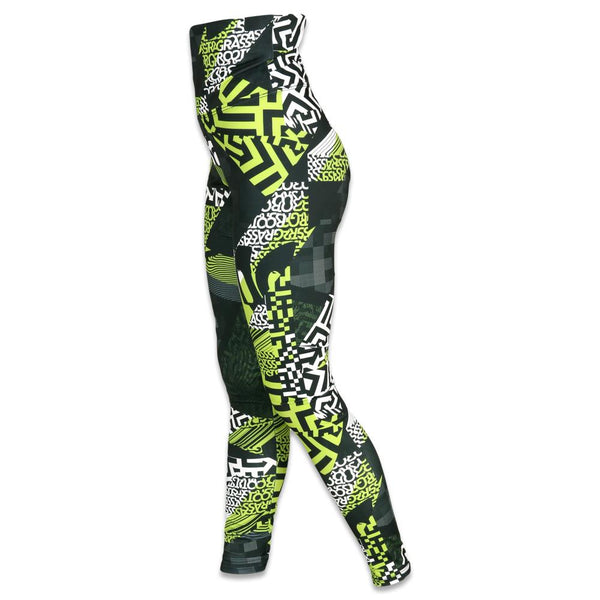 Neon Glitch Allover Yoga Pants