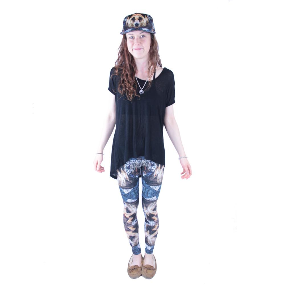 Psychedelic Bear Leggings - Grassroots California - 1