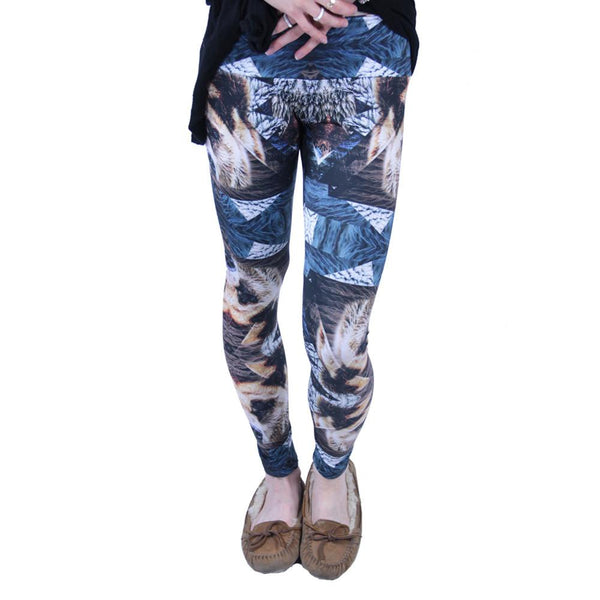 Psychedelic Bear Leggings - Grassroots California - 2