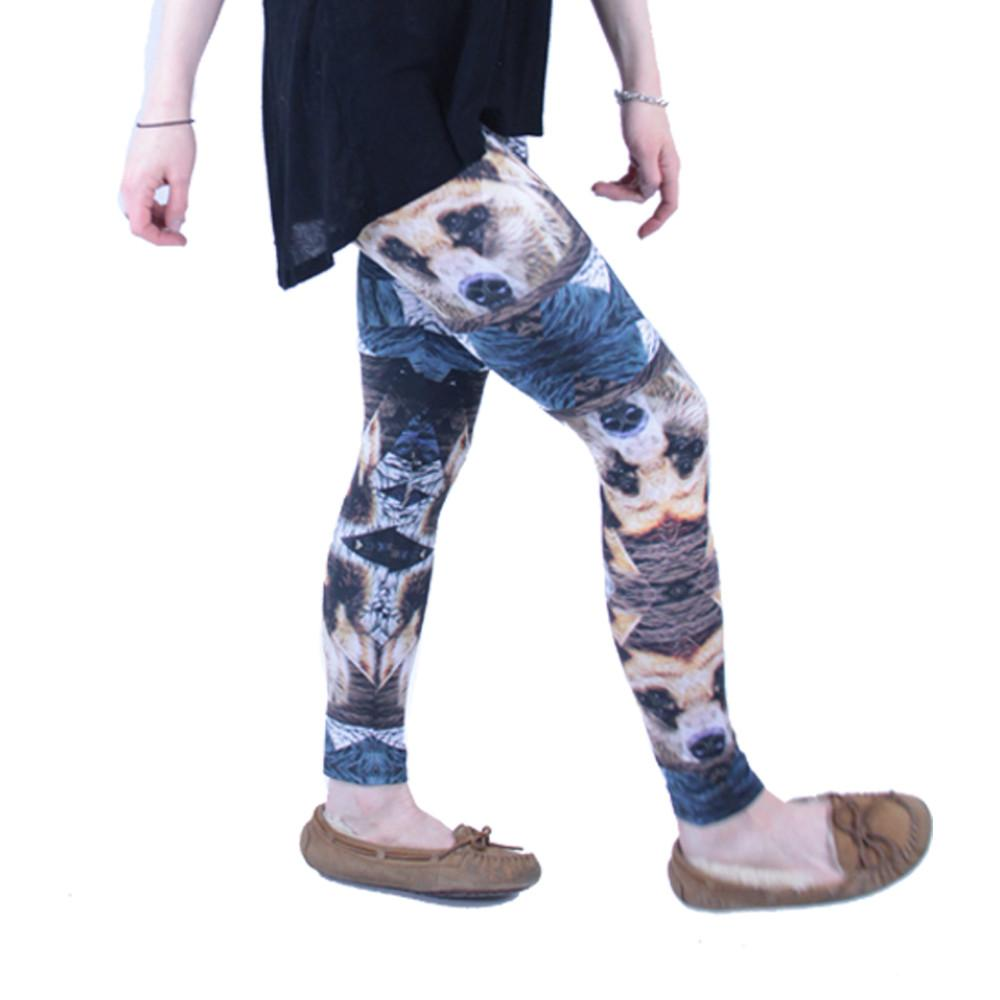 Psychedelic Bear Leggings - Grassroots California - 4