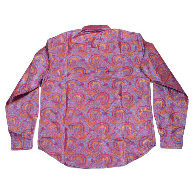 Psychedelic Paisley Red Button Up Long Sleeve - Grassroots California - 2