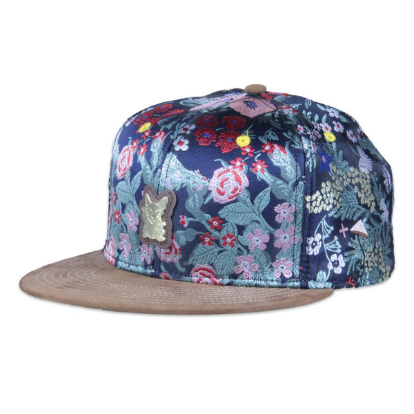 Monster Lucky Cat Floral Strapback - Grassroots California - 1