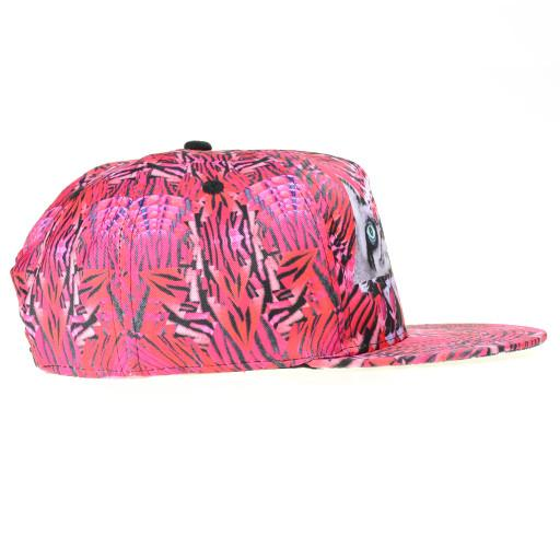 Psychedelic Tiger Pink Shallow Snapback - Grassroots California - 2