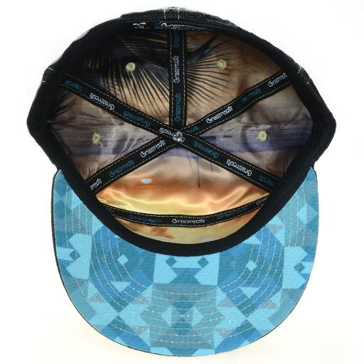 GRC Surf Bear Blue 6 Panel Fitted - Grassroots California - 5