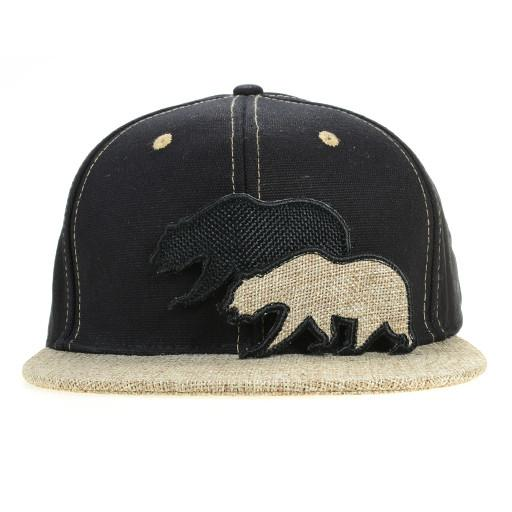 Removable Bear 2015 Simple Black Hemp Fitted - Grassroots California - 2