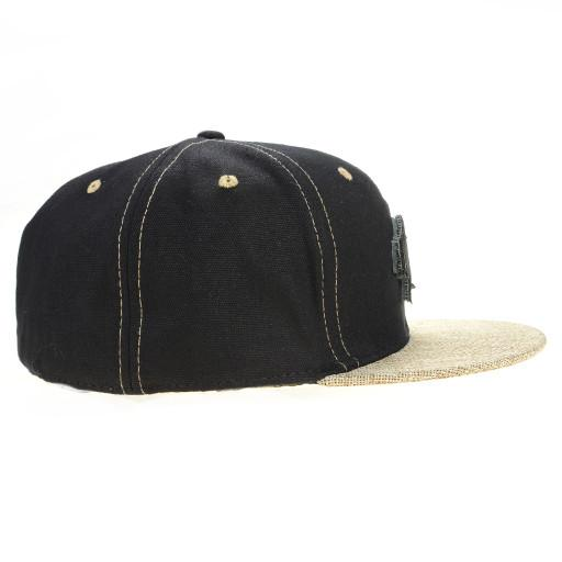 Removable Bear 2015 Simple Black Hemp Fitted - Grassroots California - 3