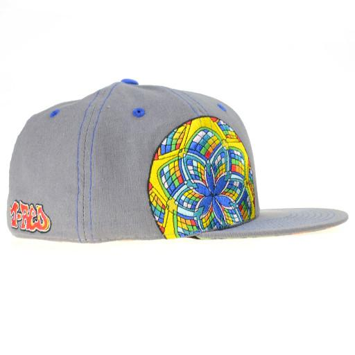 J Red Glass Gray Fitted - Grassroots California - 2
