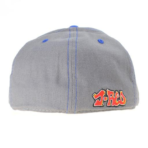 J Red Glass Gray Fitted - Grassroots California - 4