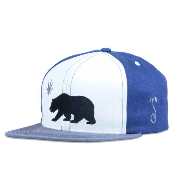 Made in USA Classic OG Cali Greens White Blue Snapback - Grassroots California - 1