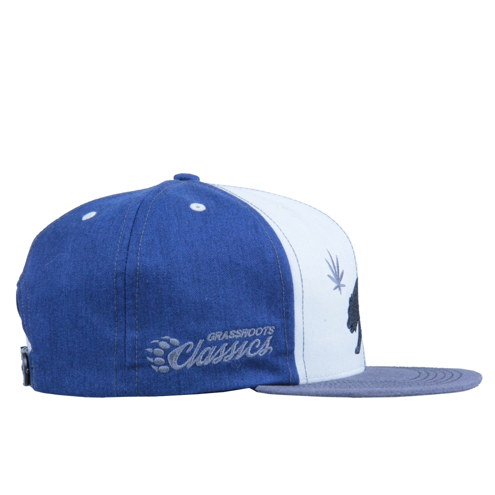 Made in USA Classic OG Cali Greens White Blue Snapback - Grassroots California - 4