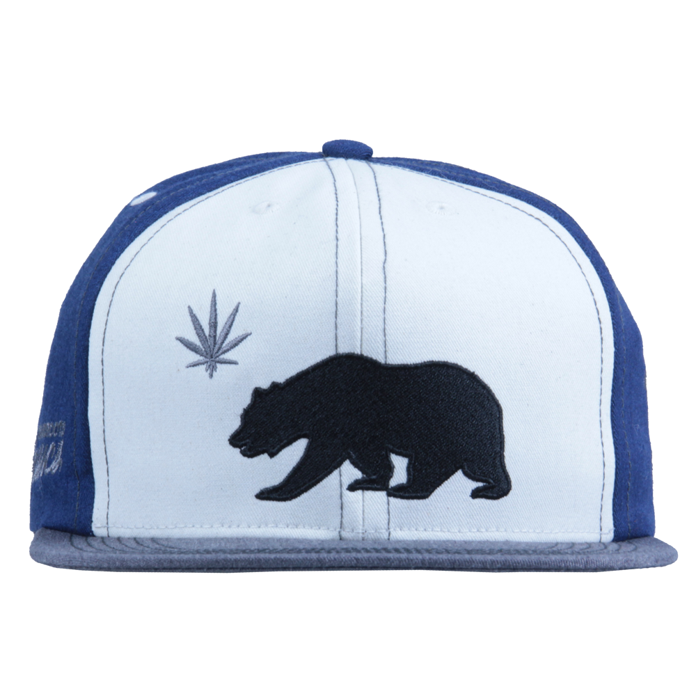 Made in USA Classic OG Cali Greens White Blue Snapback - Grassroots California - 6