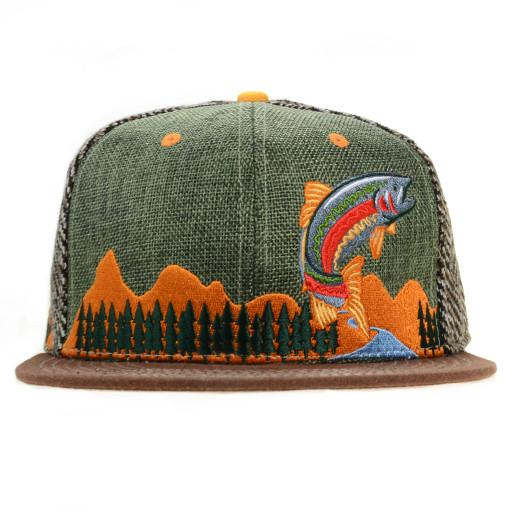 Kitchen Dwellers Green Strapback - Grassroots California - 1