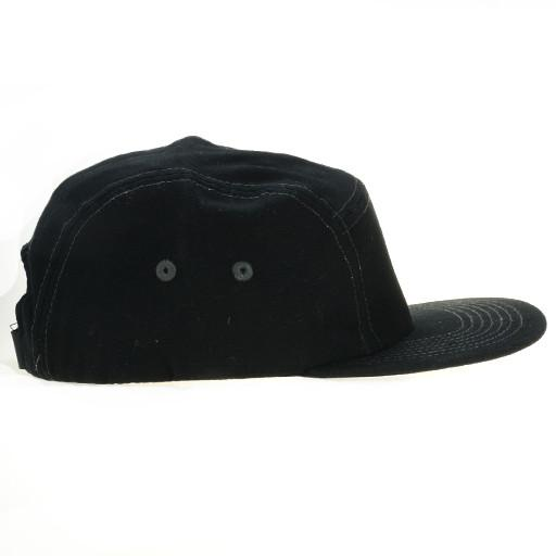 Touch of Class All Black 5 Panel Strapback - Grassroots California - 2