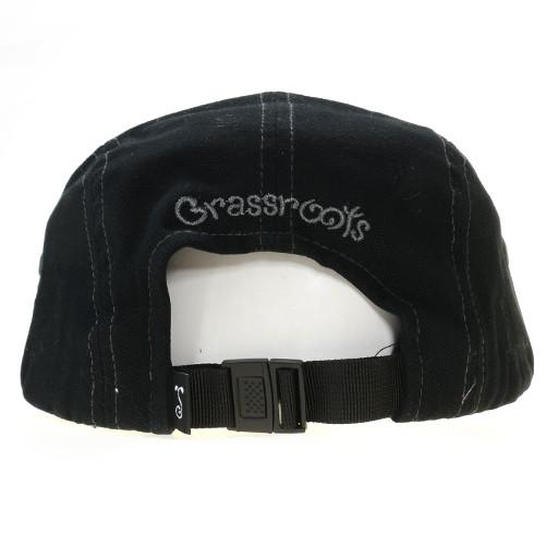 Touch of Class All Black 5 Panel Strapback - Grassroots California - 4