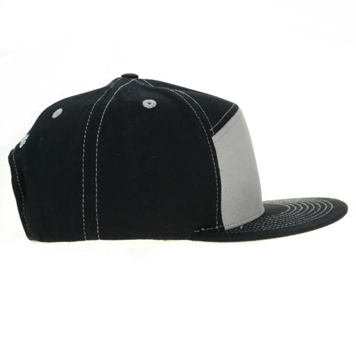Touch of Class Black Gray 6 Panel Snapback - Grassroots California - 2