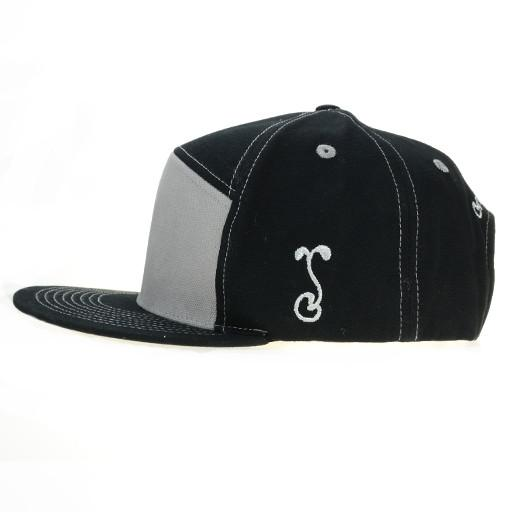Touch of Class Black Gray 6 Panel Snapback - Grassroots California - 3