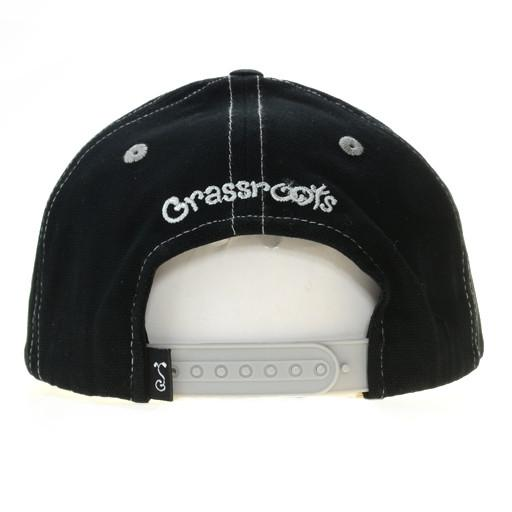 Touch of Class Black Gray 6 Panel Snapback - Grassroots California - 4