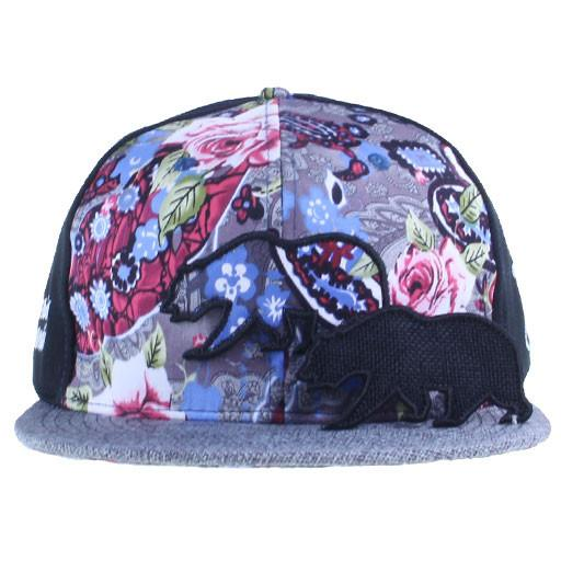 Removable Bear Floral Paisley Blue Fitted - Grassroots California - 2