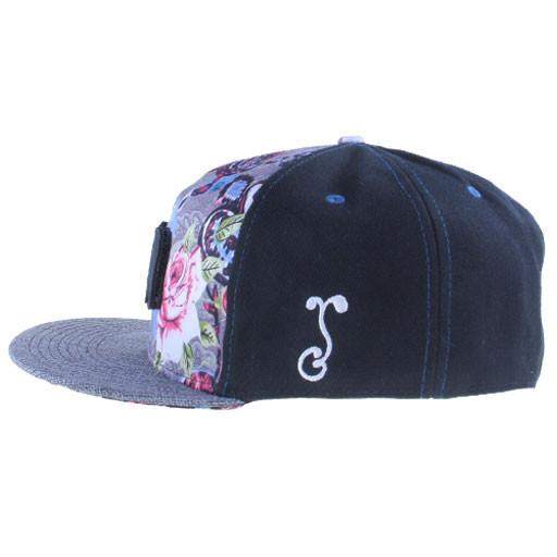 Removable Bear Floral Paisley Blue Fitted - Grassroots California - 4