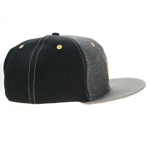 Leather Patch Black Floral Paisley Fitted - Grassroots California - 2