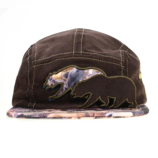 Removable Bear Real Print 5 Panel Snapback - Grassroots California - 2