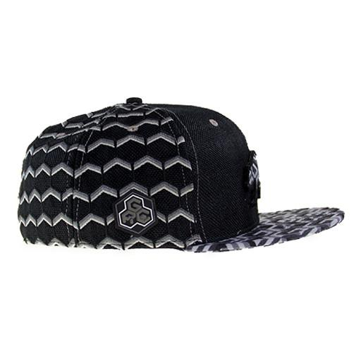 Removable Bear Geometric Black Fitted - Grassroots California - 4