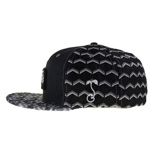 Removable Bear Geometric Black Fitted - Grassroots California - 5