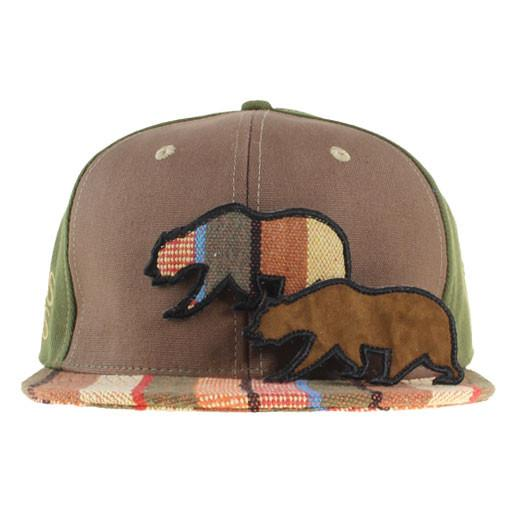 Removable Bear Brown Tweed Stripe Fitted - Grassroots California - 2