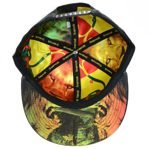 Removable Bear Rasta Snapback - Grassroots California - 5