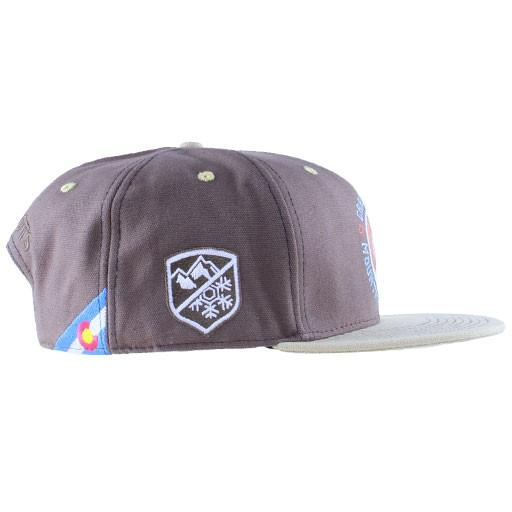 Mountain Division Sprout Badge Brown Snapback - Grassroots California - 2