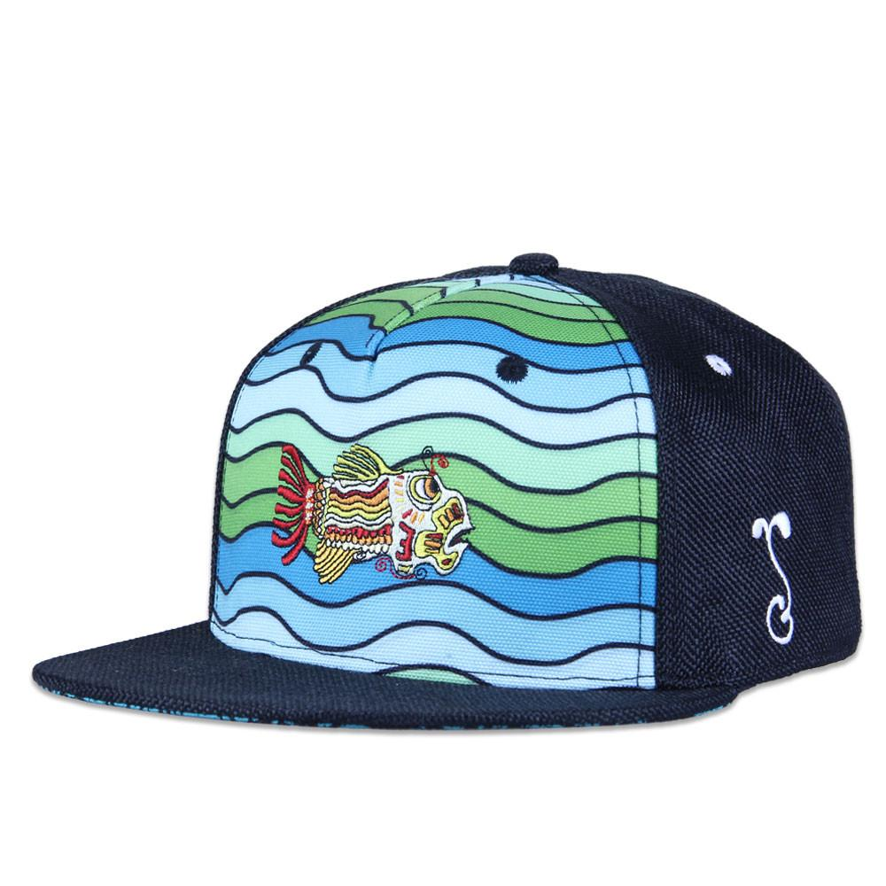 Jerry Garcia Waves Shallow Strapback - Grassroots California - 5