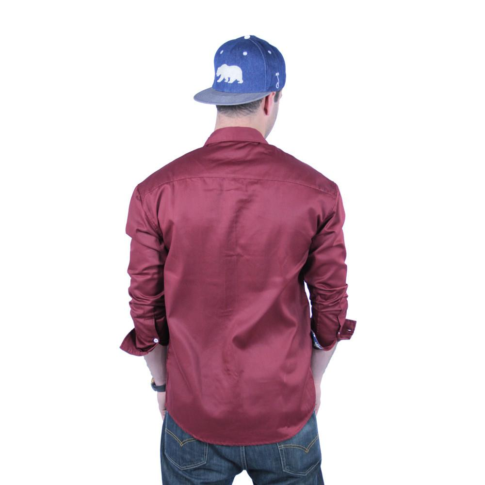 Maroon Weed Button Up Long Sleeve - Grassroots California - 4
