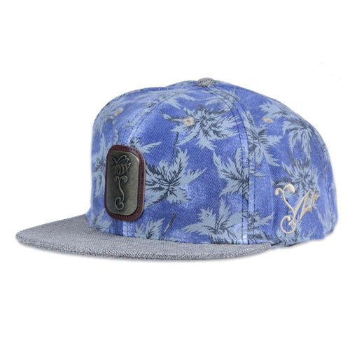 7 Union Hawaiian Brass Blue Snapback - Grassroots California - 1