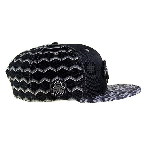 Removable Bear Geometric Black Snapback - Grassroots California - 4