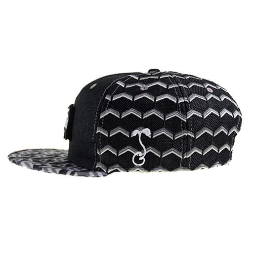 Removable Bear Geometric Black Snapback - Grassroots California - 5