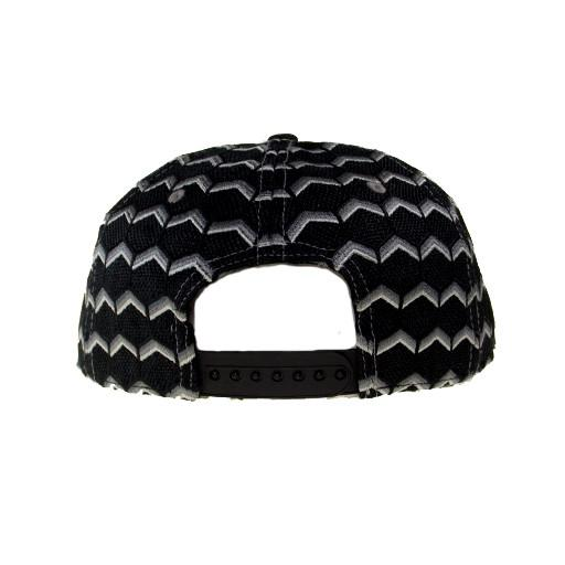Removable Bear Geometric Black Snapback - Grassroots California - 6