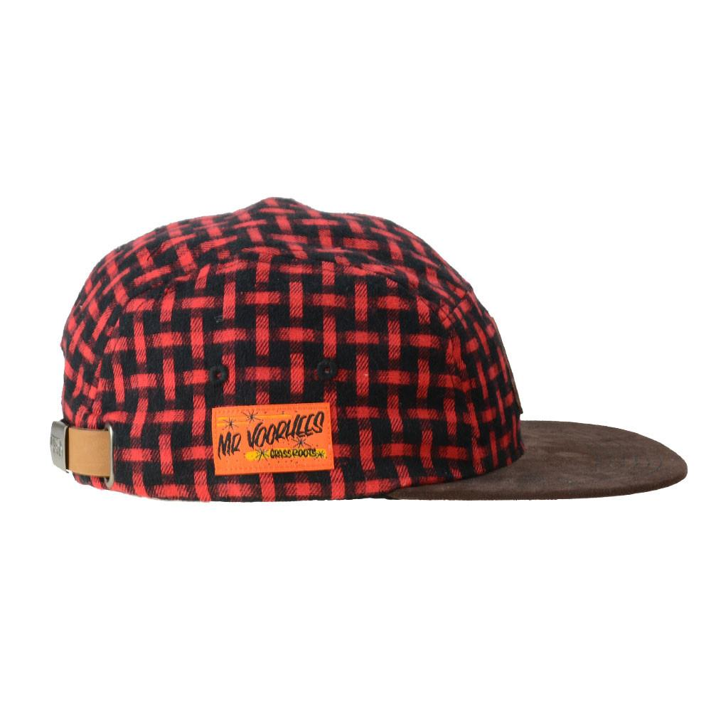 Voorhees Flannel 5 Panel Snapback - Grassroots California - 2