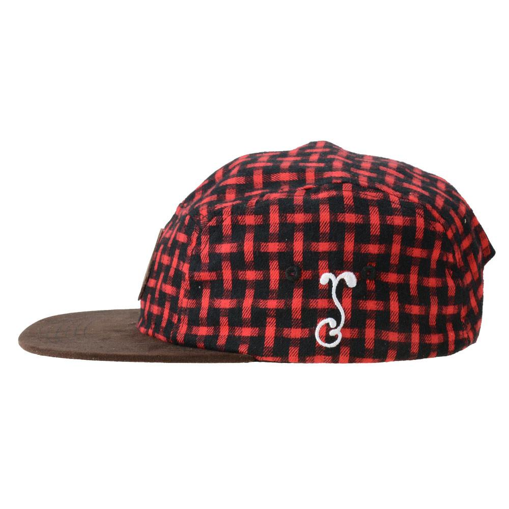 Voorhees Flannel 5 Panel Snapback - Grassroots California - 3
