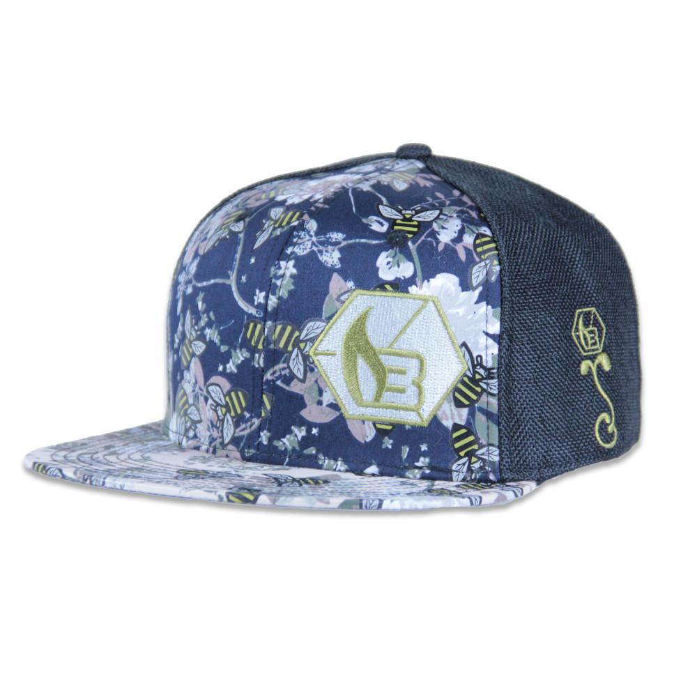 Bee line Floral Fitted - Grassroots California - 1