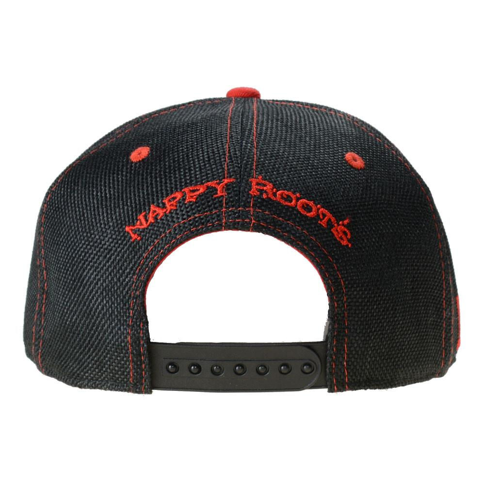 Nappy Roots Black Red Snapback - Grassroots California - 4