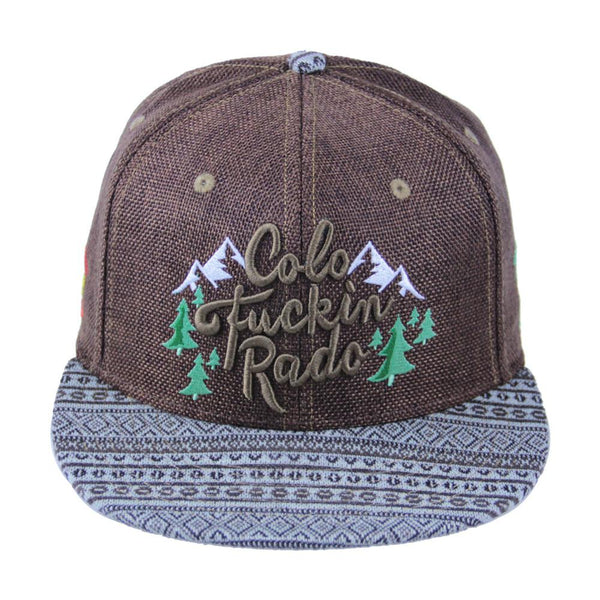 Mountain Division Colofuckinrado Brown Aztec Strapback - Grassroots California - 1
