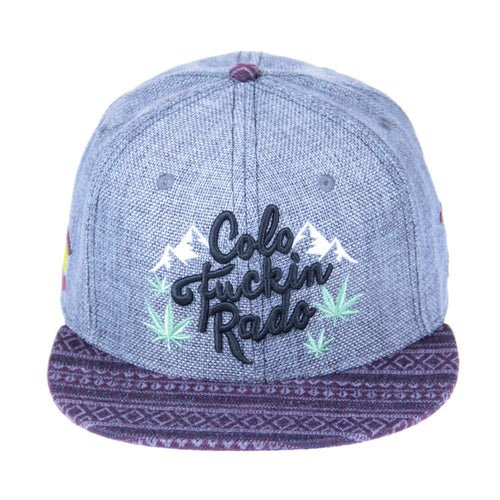 Mountain Division Colofuckinrado Gray Aztec Fitted - Grassroots California - 1