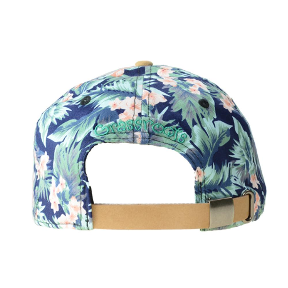 Removable Bear Water Flower Strapback - Grassroots California - 5