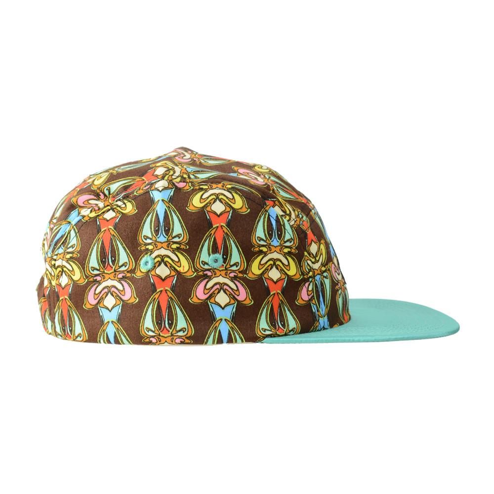 Hularoots Brown Pattern 5 Panel Snapback - Grassroots California - 2