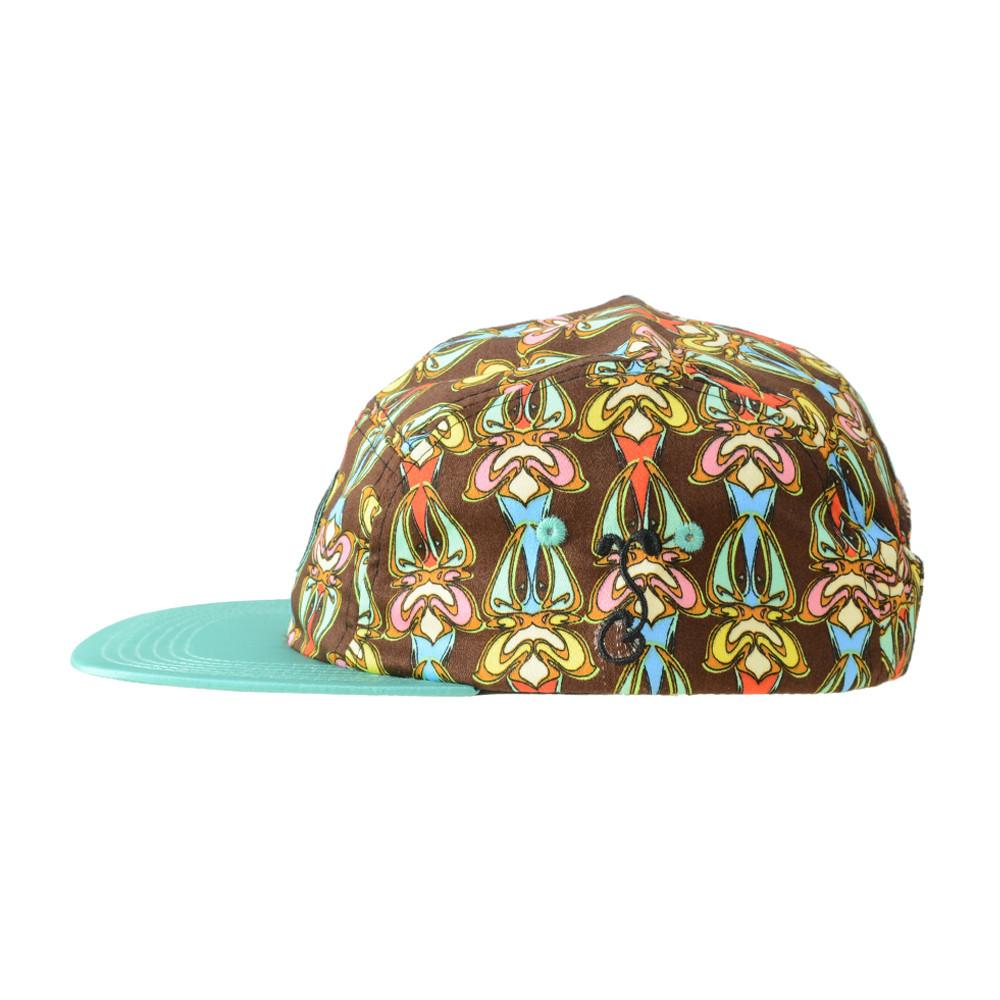 Hularoots Brown Pattern 5 Panel Snapback - Grassroots California - 3