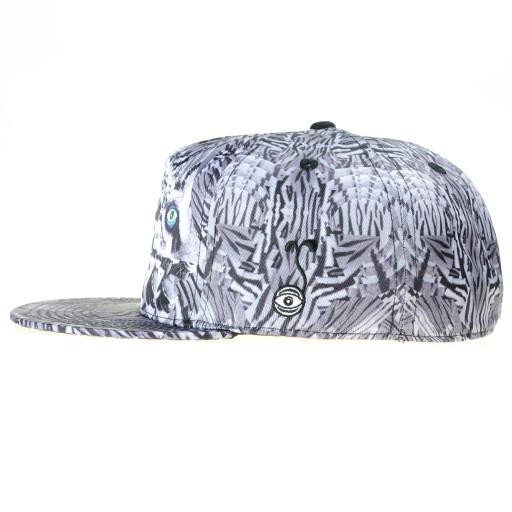 Psychedelic Tiger Gray Shallow Fitted - Grassroots California - 3