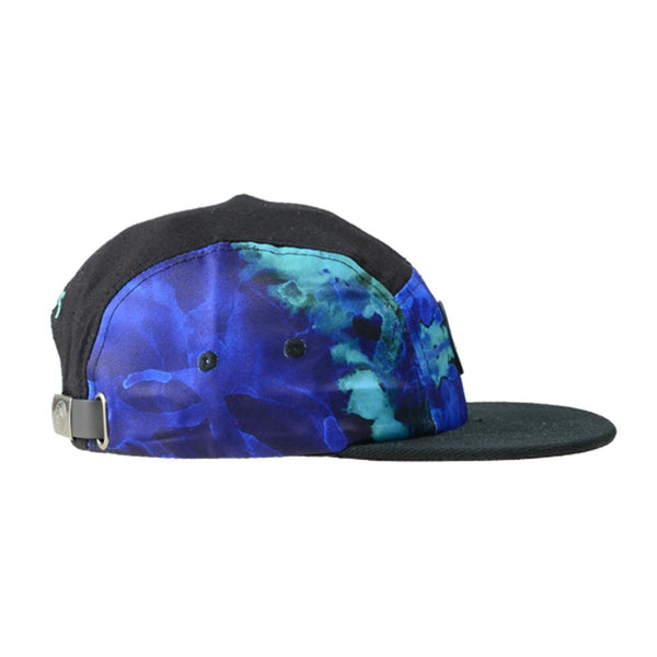 High Tide Blue 5 Panel Strapback - Grassroots California - 2